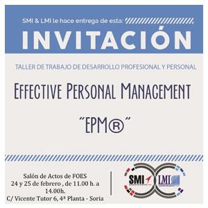 Taller Effective Personal Management EPM