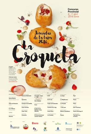 Cartel Jornadas de la Tapa de la Croqueta 2016
